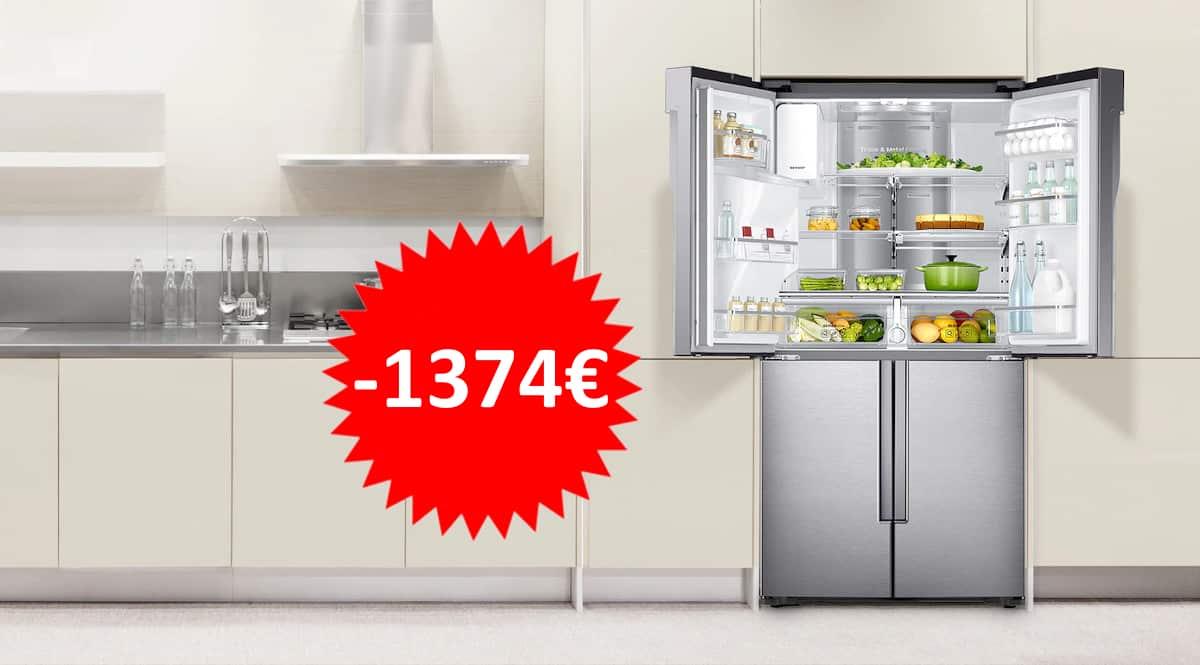 Frigorifico de puerta francesa Samsung RF56K9041SRL barato. Ofertas en electrodomesticos,electrodomesticos baratos, chollo