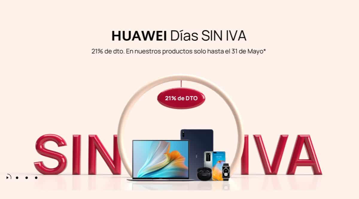 ¡Días sin IVA de Huawei! Selección de las mejores ofertas.