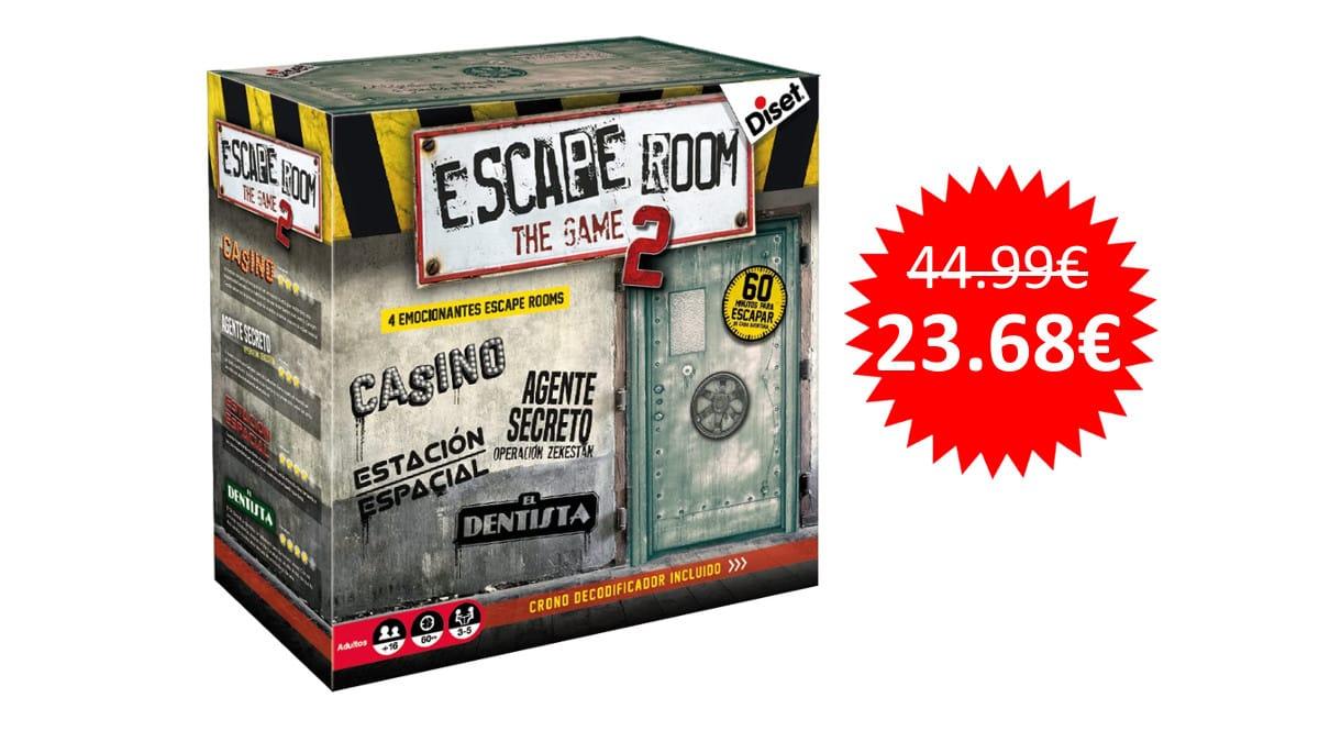 ¡Precio mínimo histórico! Juego de mesa Escape Room The Game 2 sólo 23 euros.