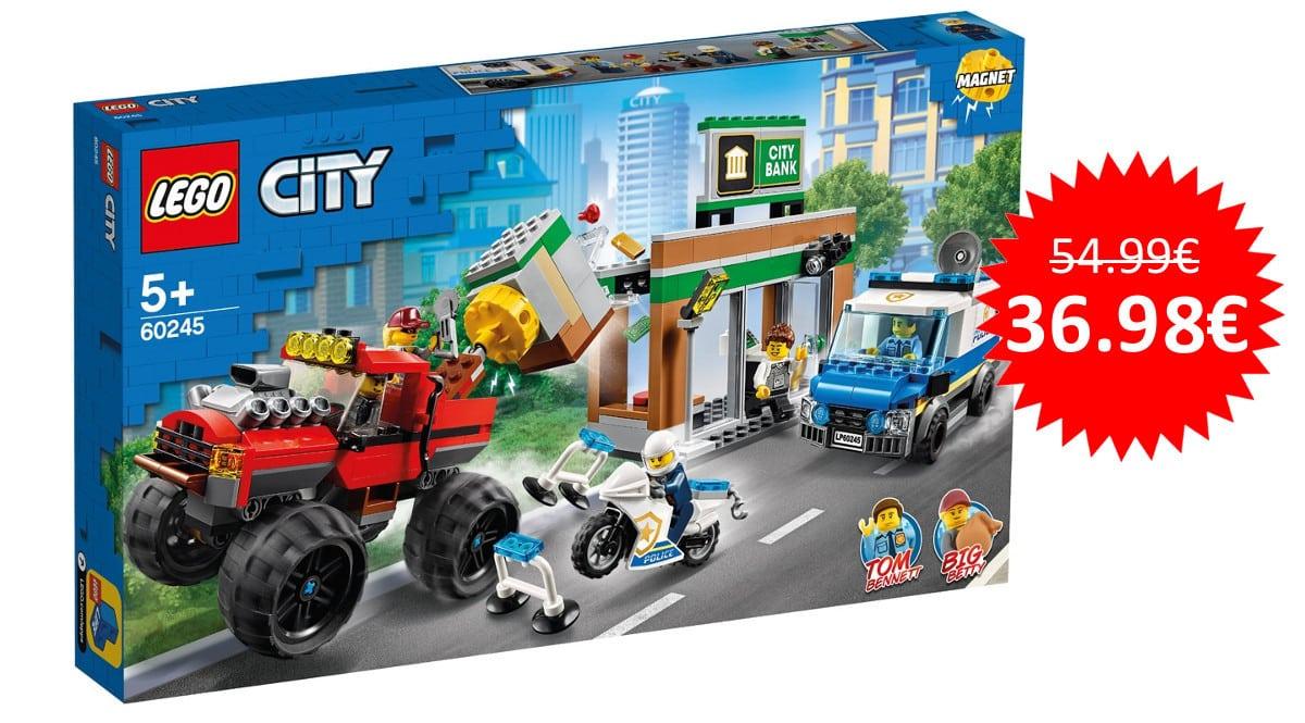 ¡¡Chollo!! LEGO City Policía: Atraco del Monster Truck (60245) sólo 36.98 euros.