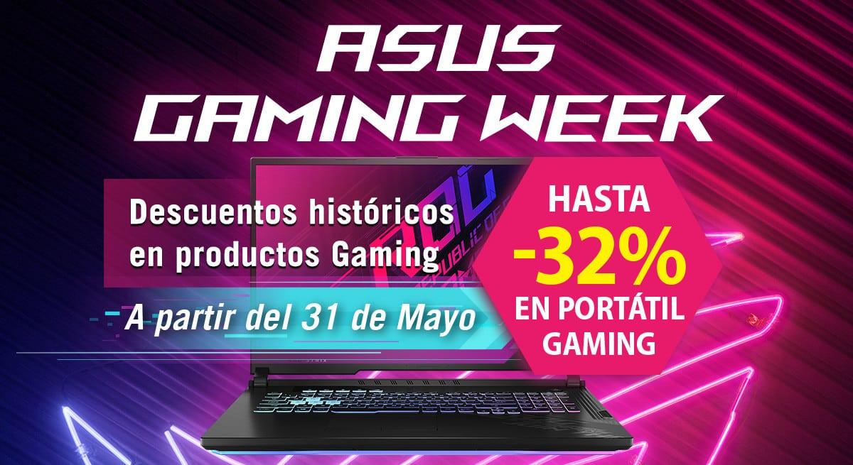 Las mejores ofertas de la Asus Gaming Week. Ofertas en portátiles, portátiles baratos, chollo