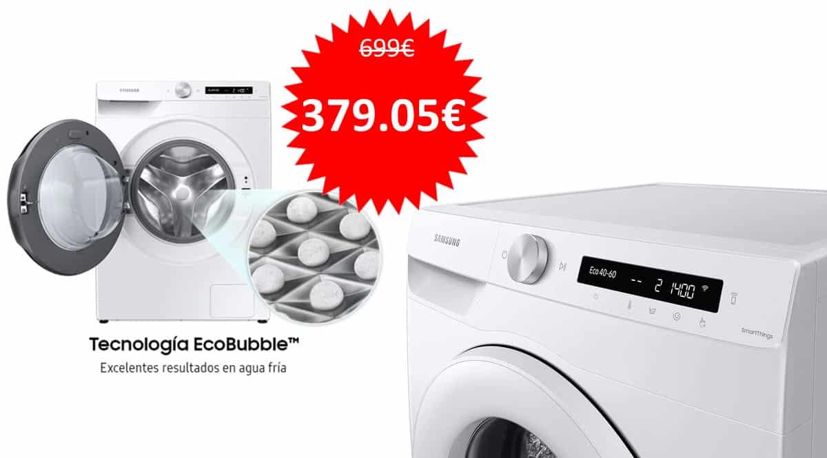 Lavadora Samsung WW10T534DTW barata. Ofertas en lavadoras, lavadoras baratas, chollo