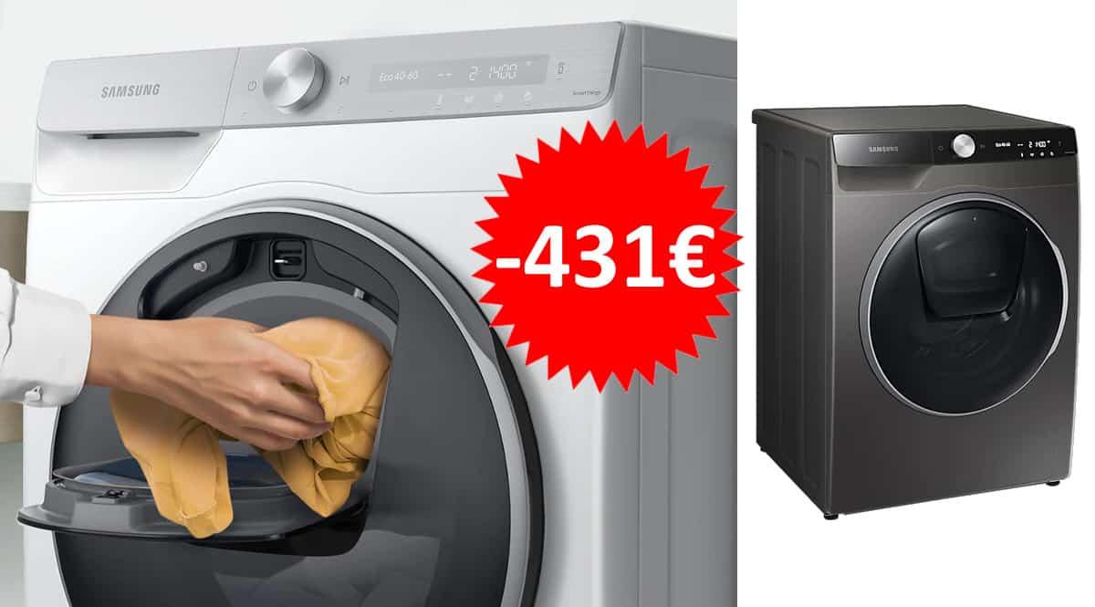 Lavadora Samsung WW90T986DSX barata. Ofertas en electrodomésticos, electrodomésticos baratos, chollo