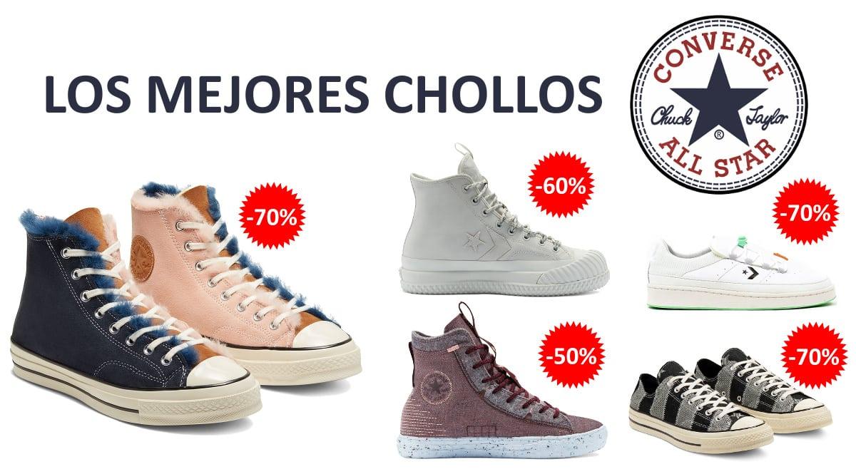Los mejores chollos en Converse, calzado de marca barato, ofertas en zapatillas chollo