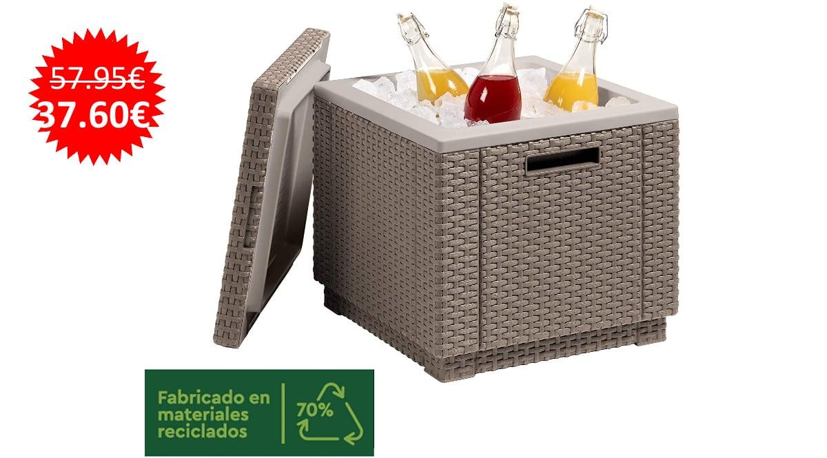 Mesa nevera para jardín Keter Ice Cube barata, muebles para jardín de marca baratos, ofertas hogar, chollo