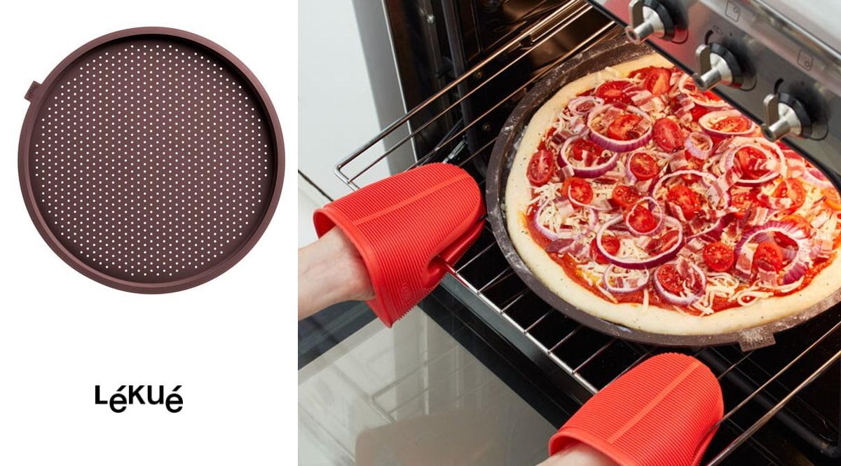 Molde microperforado para pizzas Lékué barato, moldes de cocina de marca baratos, ofertas hogar, chollo