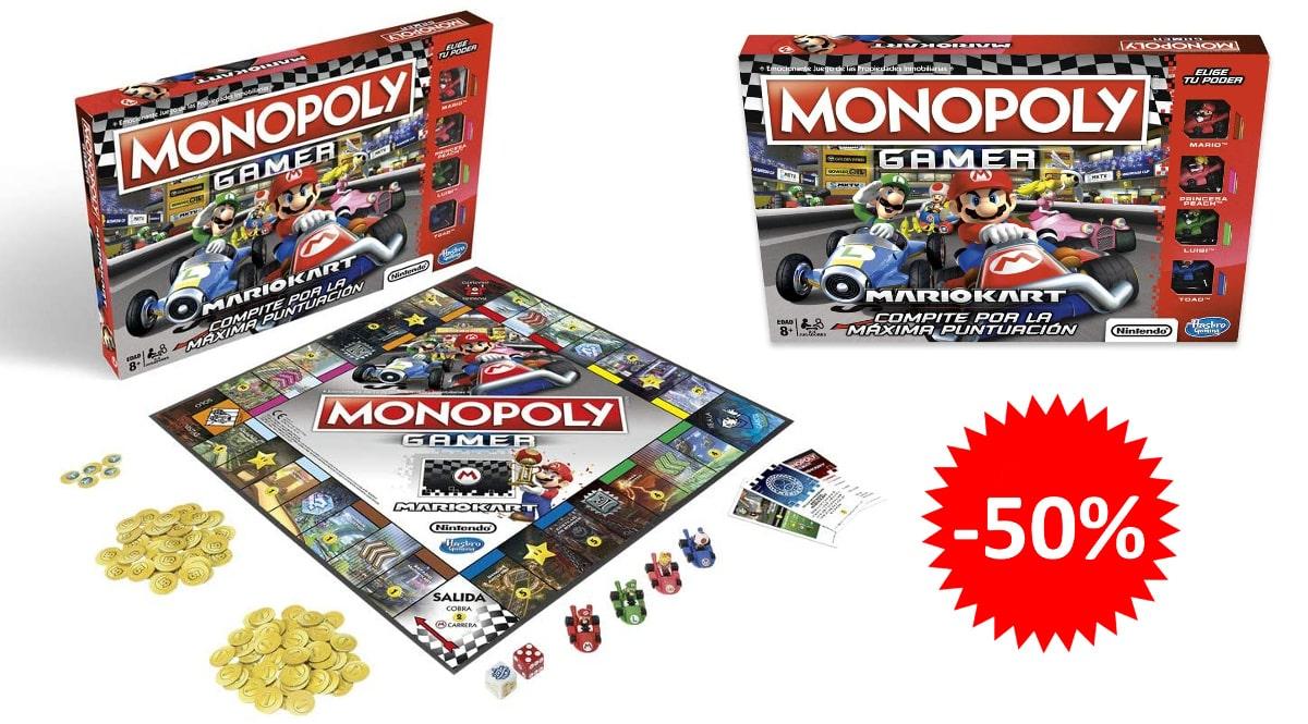 Monopoly Mario Kart barato, juguetes baratos, ofertas para niños chollo