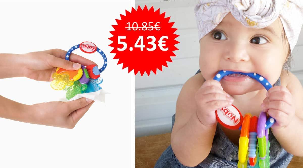 ¡¡Chollo!! Mordedor Nuby en forma de llaves para bebés 3m+ sólo 5.43 euros. 50% de descuento.