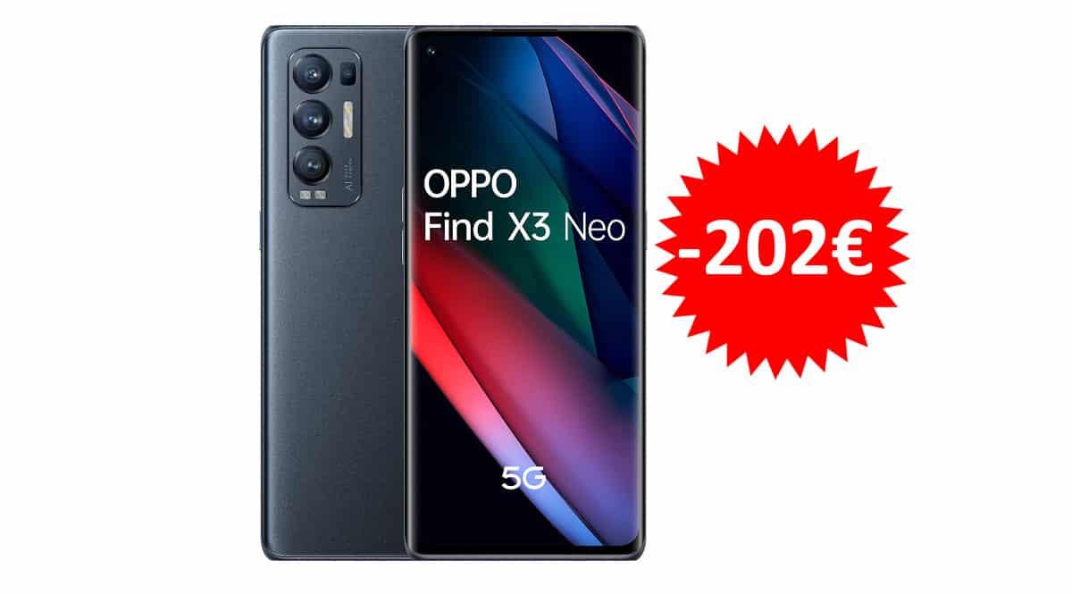 ¡Precio mínimo histórico! Móvil OPPO Find X3 Neo 5G 6.55″ 12GB/256GB sólo 617 euros. Te ahorras 202 euros.