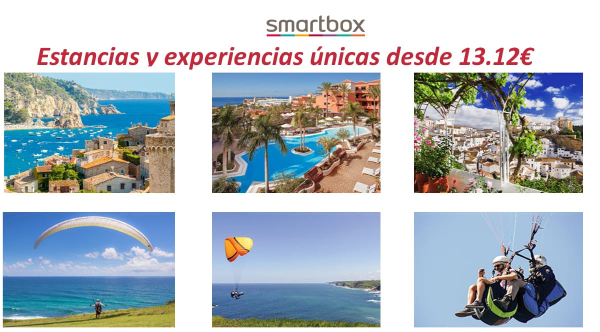 Ofertas en escapadas y aventuras con Smartbox, escapadas y planes baratos, ofertas en viajes, chollo