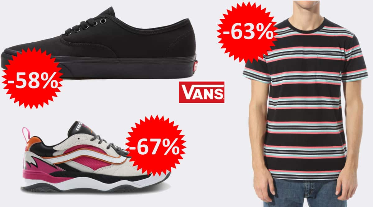 Ofertas en tallas sueltas de Vans, ropa y zapatillas Vans baratas, ofertas en ropa y calzado de marca, chollo