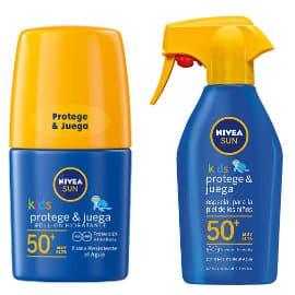 Pack Nivea Sun Kids SFP50+ para niños con Roll-On + leche solar en spray barato, protectores solares baratos, ofertas en cremas