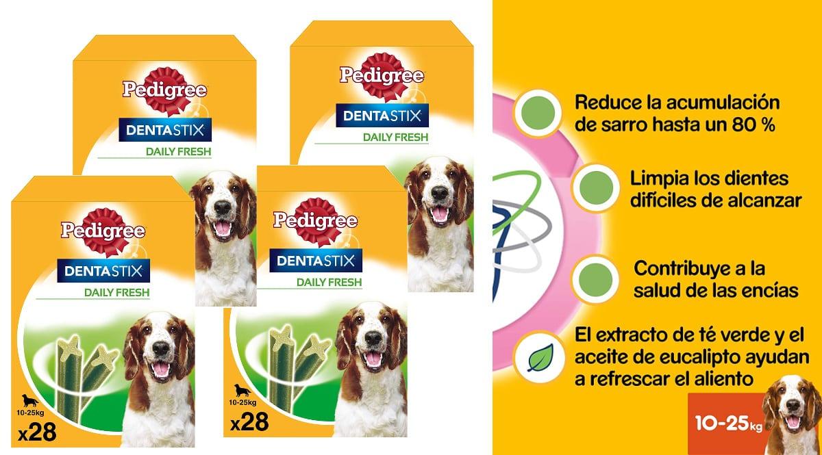 Pack de 112 Dentastix Fresh baratos, productos para mascotas baratos, ofertas en supermercado chollo