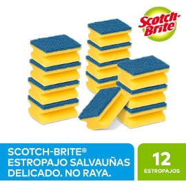 Pack de 12 estropajos Scotch Brite barato, estropajos baratos, ofertas para la casa