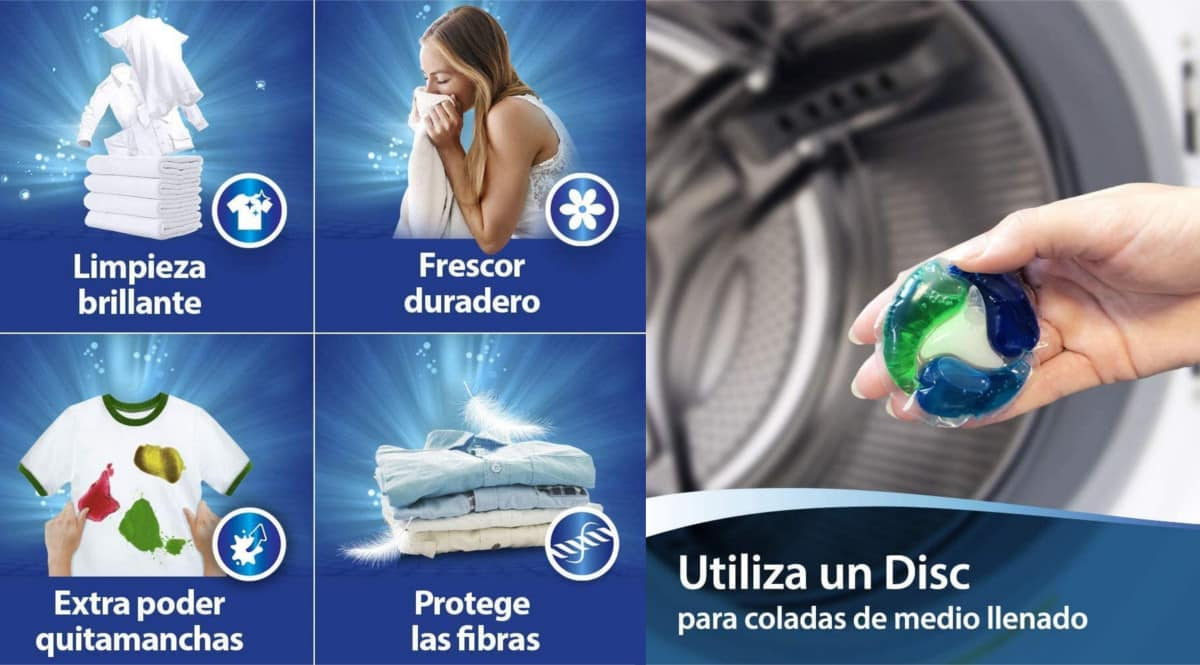Pack de 150 cápsulas de detergente Wipp Express Discs barato. Ofertas en supermercado, chollo