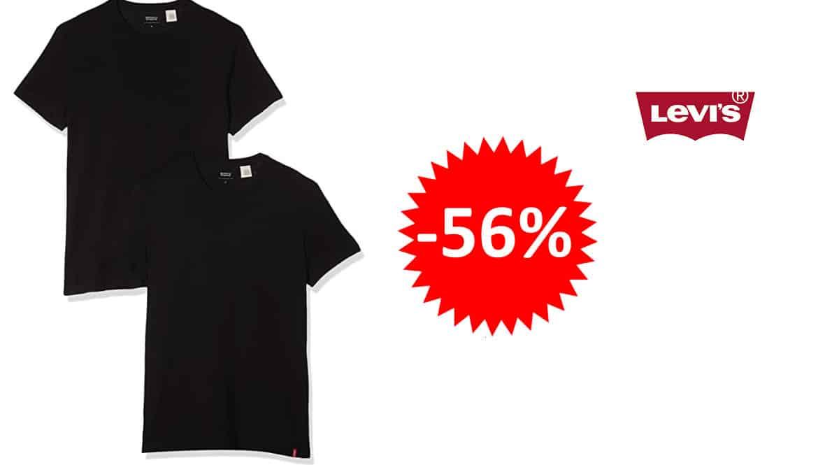 ¡¡Chollo!! Pack de 2 camisetas básicas Levi's Pack Crew sólo 16.96 euros. 56% de descuento.