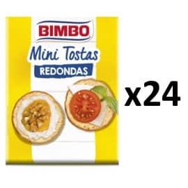 Pack de 24 paquetes de mini tostas Bimbo barato. Ofertas en supermercado