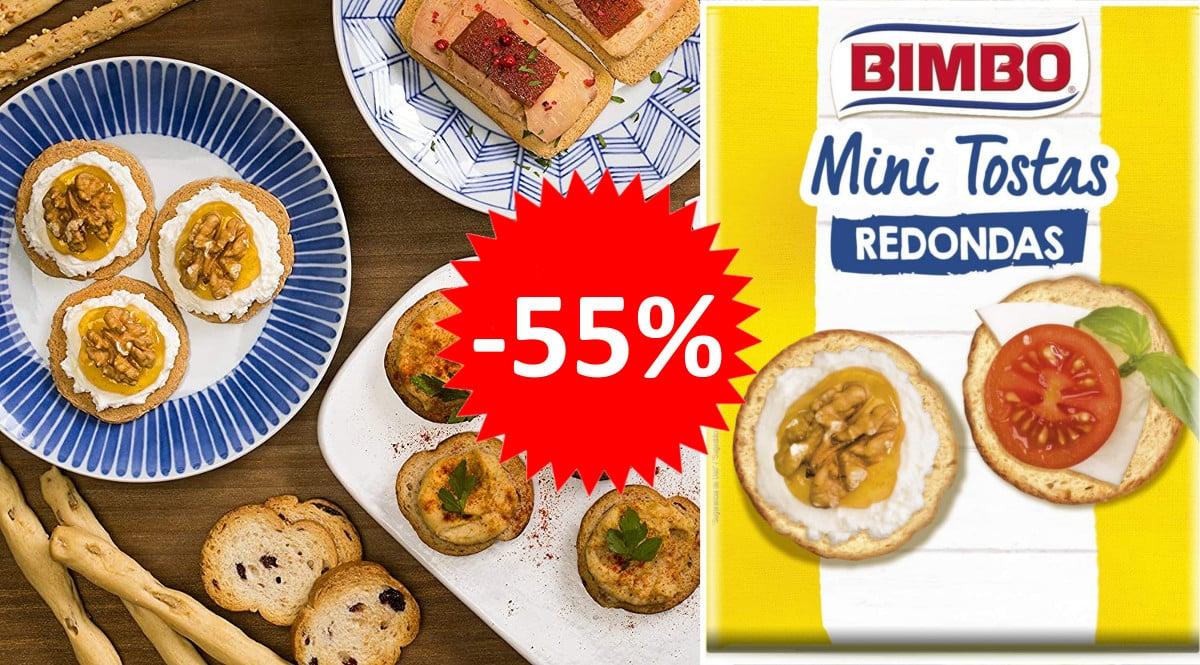 Pack de 24 paquetes de mini tostas Bimbo barato. Ofertas en supermercado,chollo