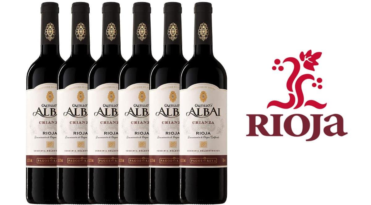 Pack de vino Castillo Albai Crianza Rioja barato. Ofertas en supermercado, chollo