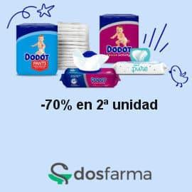 Pañales y toallitas Dodot baratas Dosfarma, pañales de marca baratos, ofertas bebé