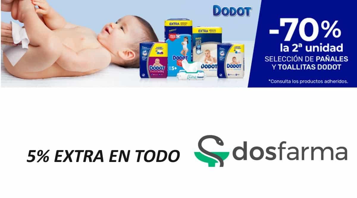 Pañales y toallitas Dodot baratas Dosfarma, pañales de marca baratos, ofertas bebé, chollo