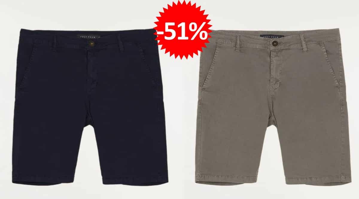 Pantalón chino corto Polo Club, pantalones de marca baratos, ofertas en ropa, chollo