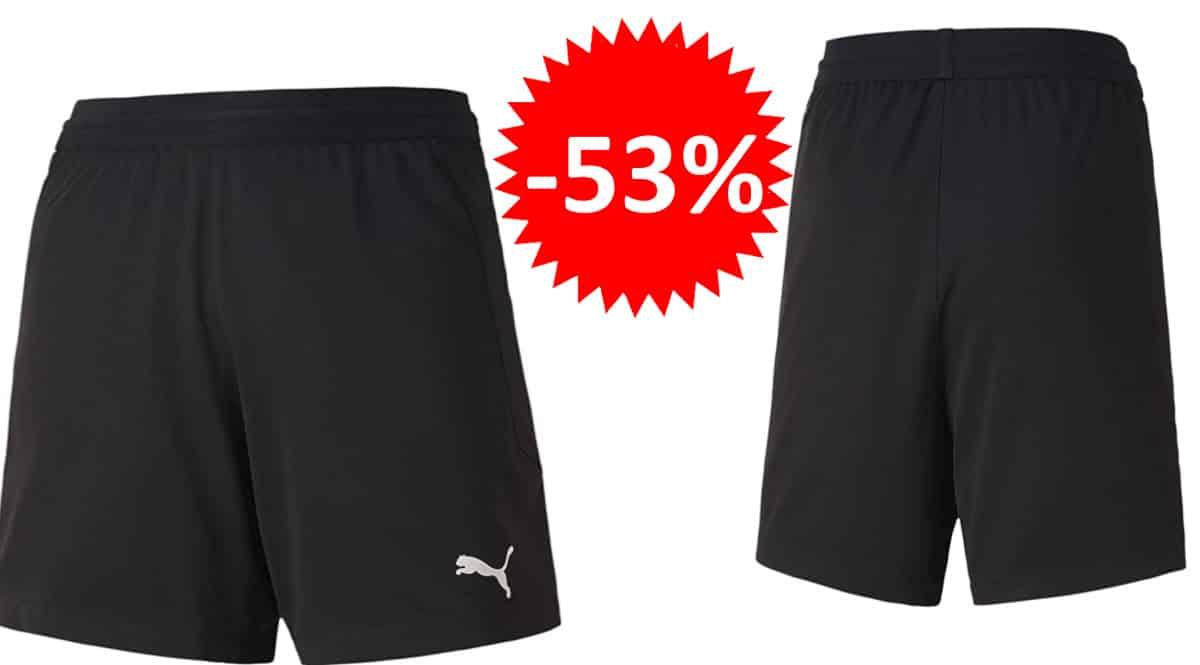 Pantalón corto para niño Puma Teamfinal 21 Knit barato, pantalones cortos de marca baratos, ofertas en ropa para niño, chollo