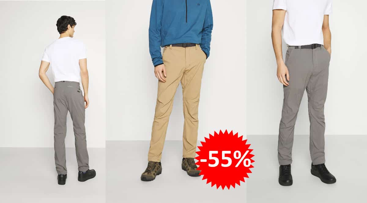 Pantalón de senderismo convertible Wrangler All Terrain Gear barato, pantalones de marca baratos, ofertas ropa deporte, chollo
