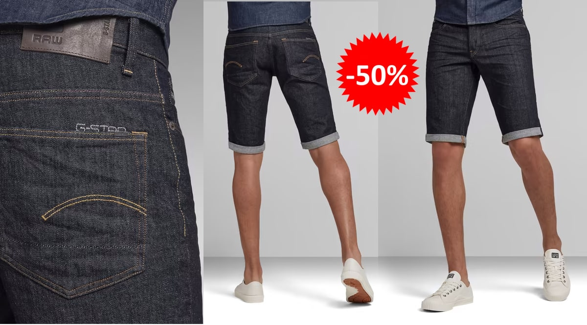 Pantalones cortos G-Star Raw 3301 baratos, ropa de marca barata, ofertas en pantalones chollo