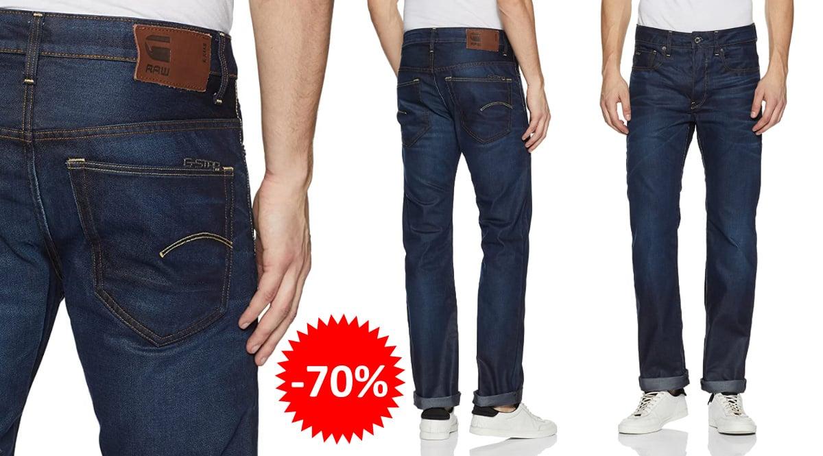 Pantalones vaqueros G-Star Raw 3301 Straight baratos, ropa de marca barata, ofertas en vaqueros chollo