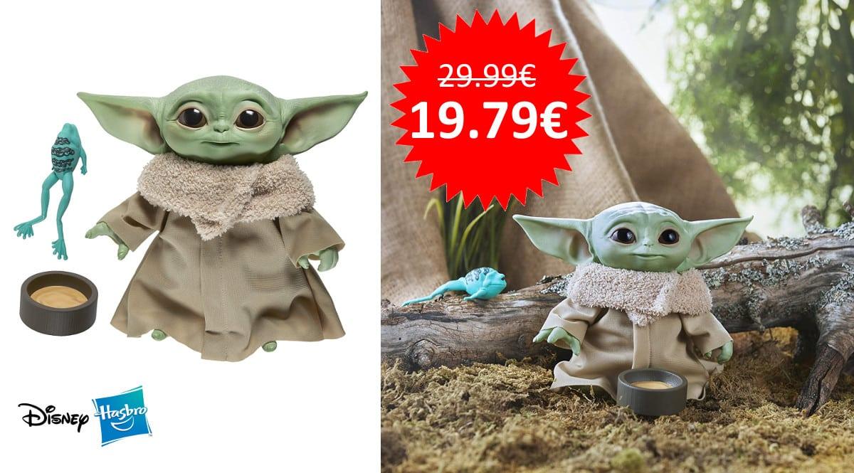 ¡¡Chollo!! Peluche parlante Hasbro The Child Baby Yoda The Mandalorian Star Wars sólo 19.79 euros.
