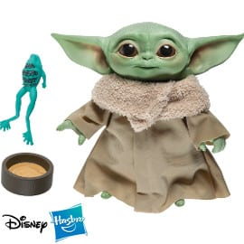 ¡¡Chollo!! Peluche parlante Hasbro The Child Baby Yoda The Mandalorian Star Wars sólo 19.79 euros.