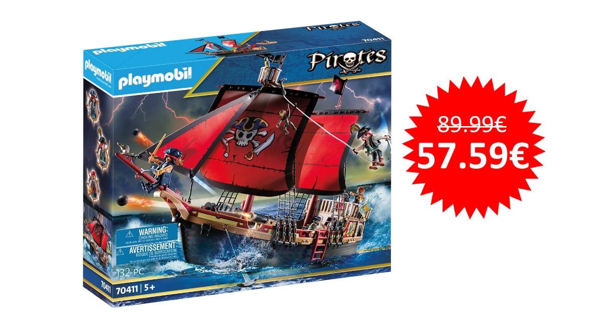 ¡¡Chollo!! Playmobil Barco Pirata Calavera sólo 57 euros.