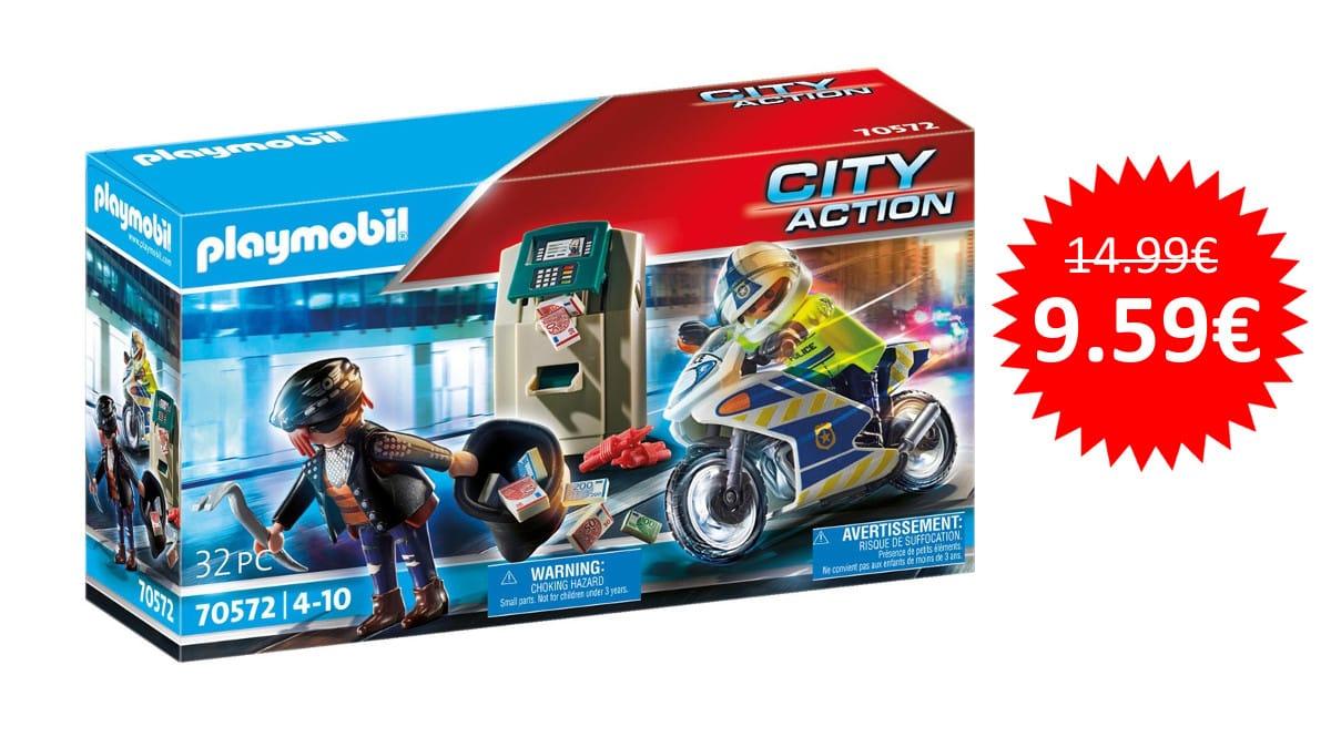¡Precio mínimo histórico! Playmobil City Action Moto de Policía sólo 9.59 euros.