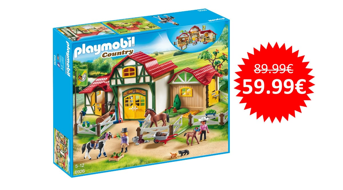 ¡Precio mínimo histórico! Playmobil Granja de Caballos (6926) sólo 59.99 euros.
