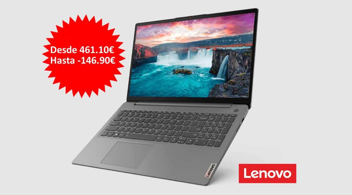 ¡Código descuento! Portátil Lenovo IdeaPad 3 Gen 6 (15″ AMD) desde sólo 461 euros. Te ahorras hasta 147 euros.