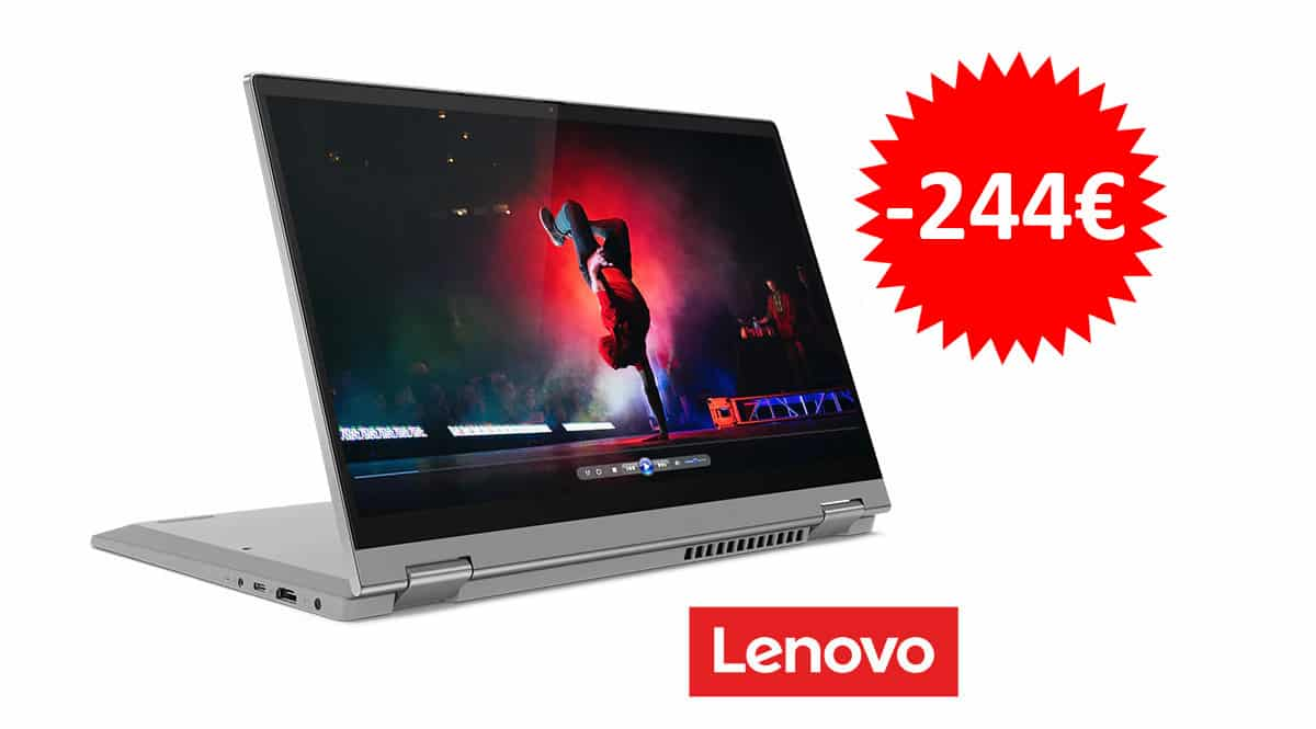 ¡Código descuento exclusivo! Portátil convertible 2 en 1 Lenovo IdeaPad Flex 5i 14″ i3-1115G4/8GB/256GB SSD sólo 455 euros. Te ahorras 244 euros.