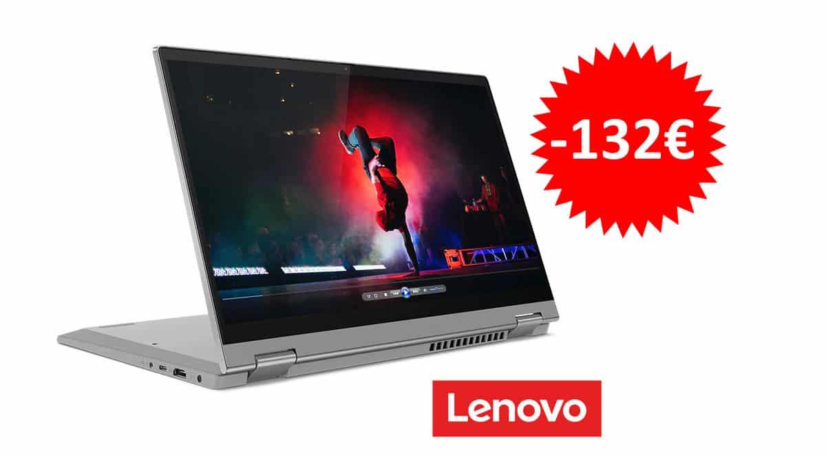 ¡Código descuento! Portátil convertible 2 en 1 Lenovo IdeaPad Flex 5i 14″ i3-1115G4/8GB/256GB SSD sólo 566 euros. Te ahorras 132 euros.
