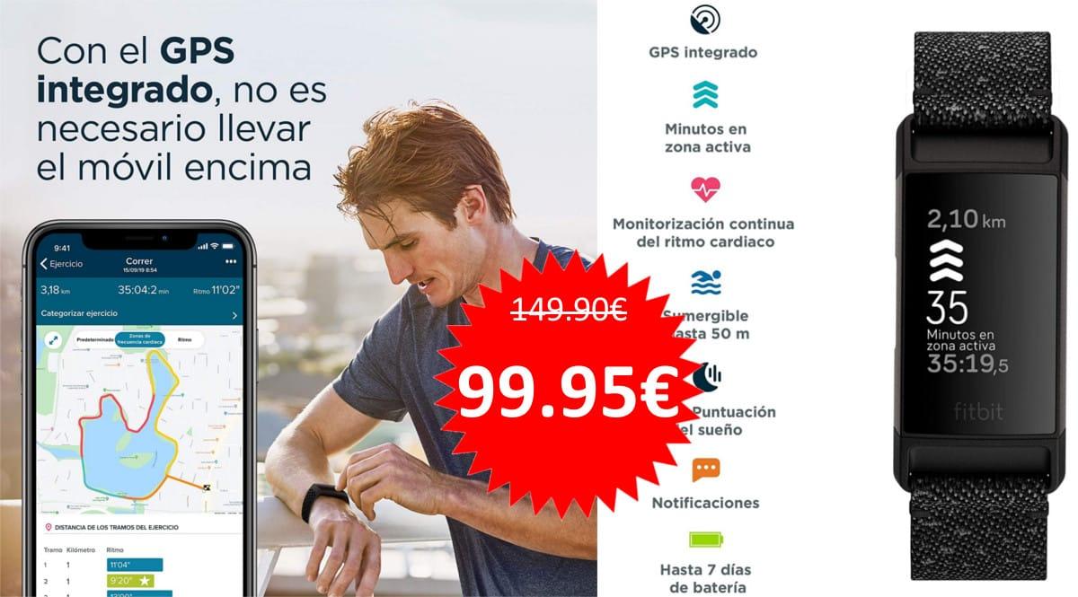 Pulsera Fitbit Charge 4 barata. Ofertas en pulseras de actividad, pulseras de actividad baratas, chollo