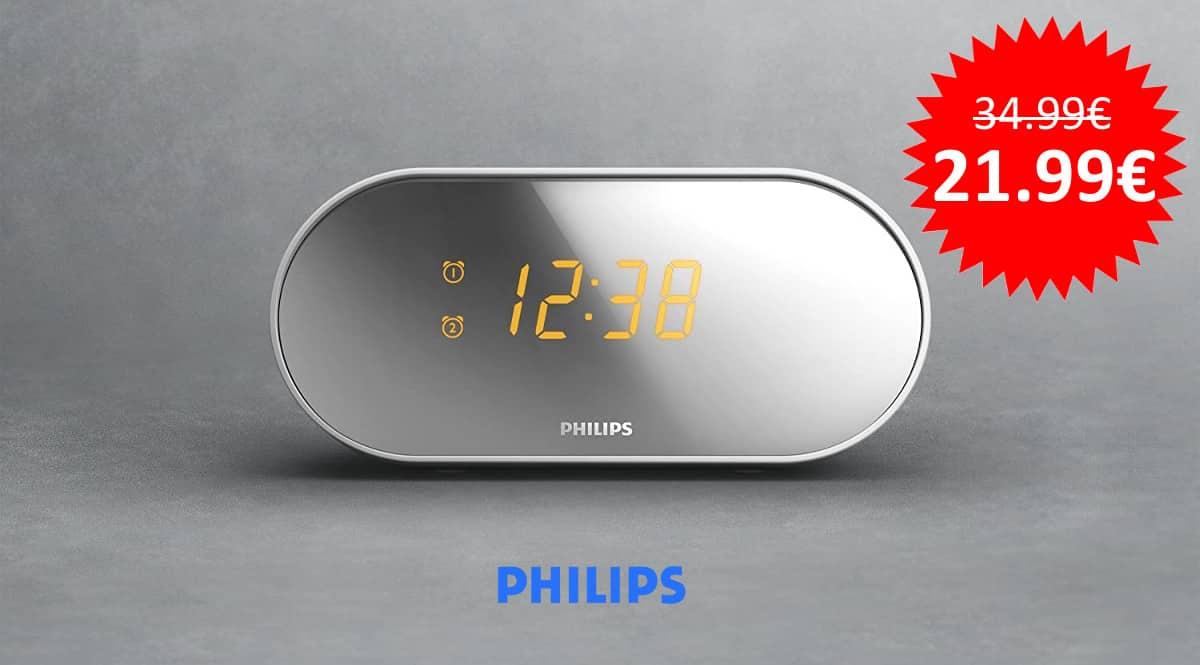 ¡Precio mínimo histórico! Radio despertador Philips AJ2000/12 sólo 21.99 euros.