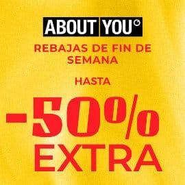 Rebajas de fin de semana en About You, ropa de marca barata, ofertas en calzado