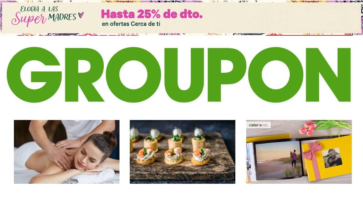 Regalos y planes baratos en tu ciudad con Groupon, ofertas en regalos y planes locales, descuentos en Groupon, chollo
