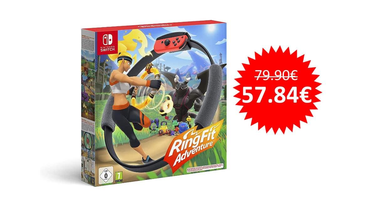 ¡Chollo Día sin IVA! Ring Fit Adventure de Nintendo Switch sólo 57 euros. ¡Último día!