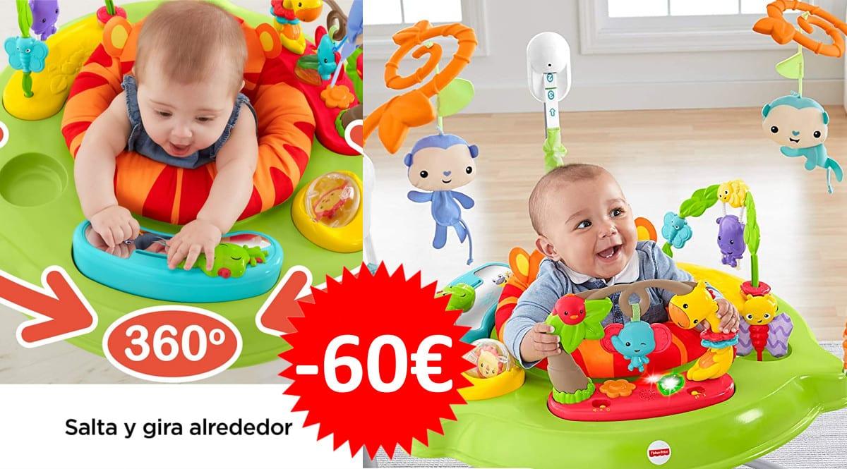 Saltador Fisher-Price Animlaitos de la jungla barato. Ofertas para bebés, productos para bebé baratos, chollo