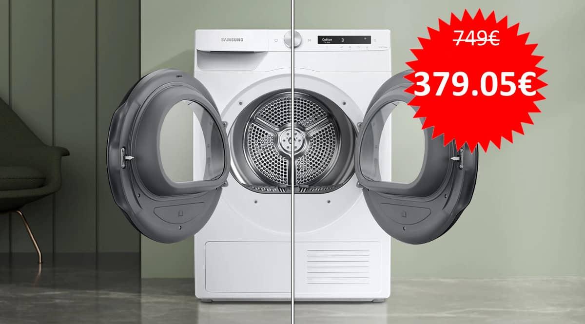 Secadora Samsung DV90T5240TW barata. Ofertas en electrodomésticos, electrodomésticos baratos, chollo