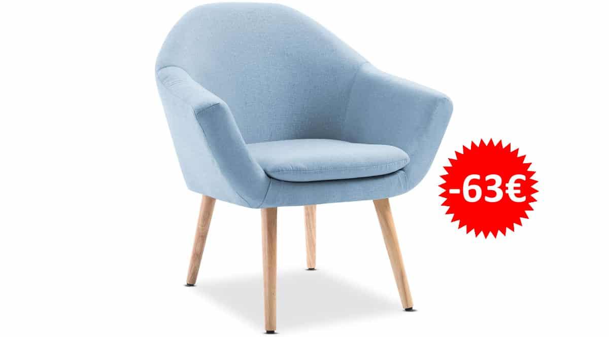 Sillón nórdico Mc Haus NAVIAN barato, muebles para salón o dormitorio de marca baratos, ofertas en hogar, chollo