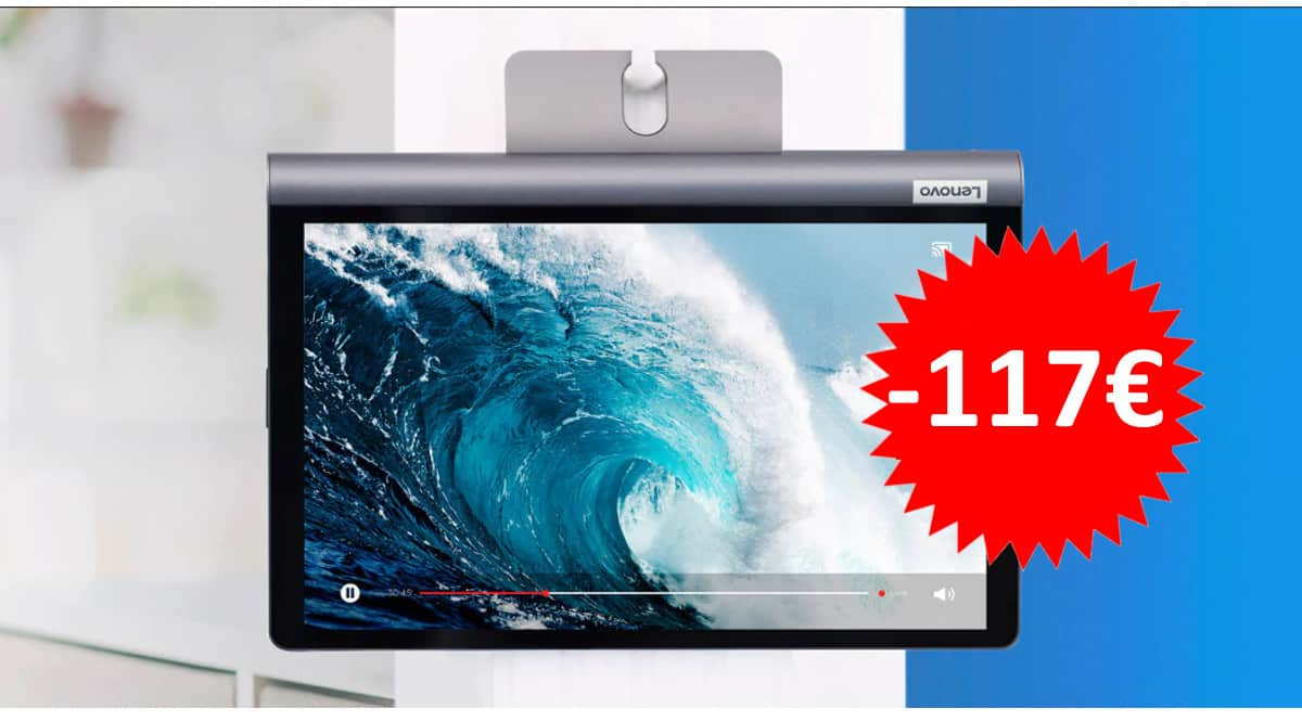 ¡Código descuento exclusivo! Tablet Lenovo Yoga Smart Tab 10″ 3/32GB sólo 152 euros. Ahórrate 117 euros.