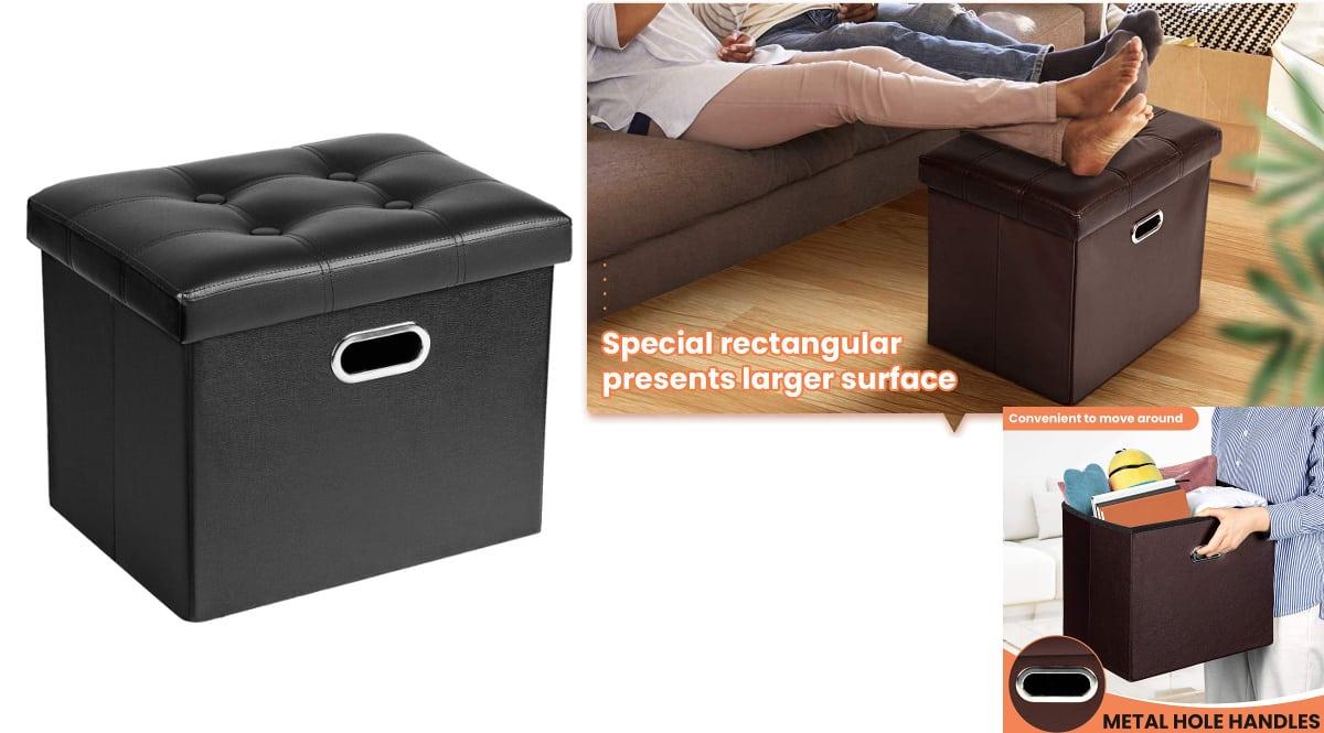 Taburete plegable Cosyland para almacenaje barato, taburetes de marca baratos, ofertas hogar, chollo