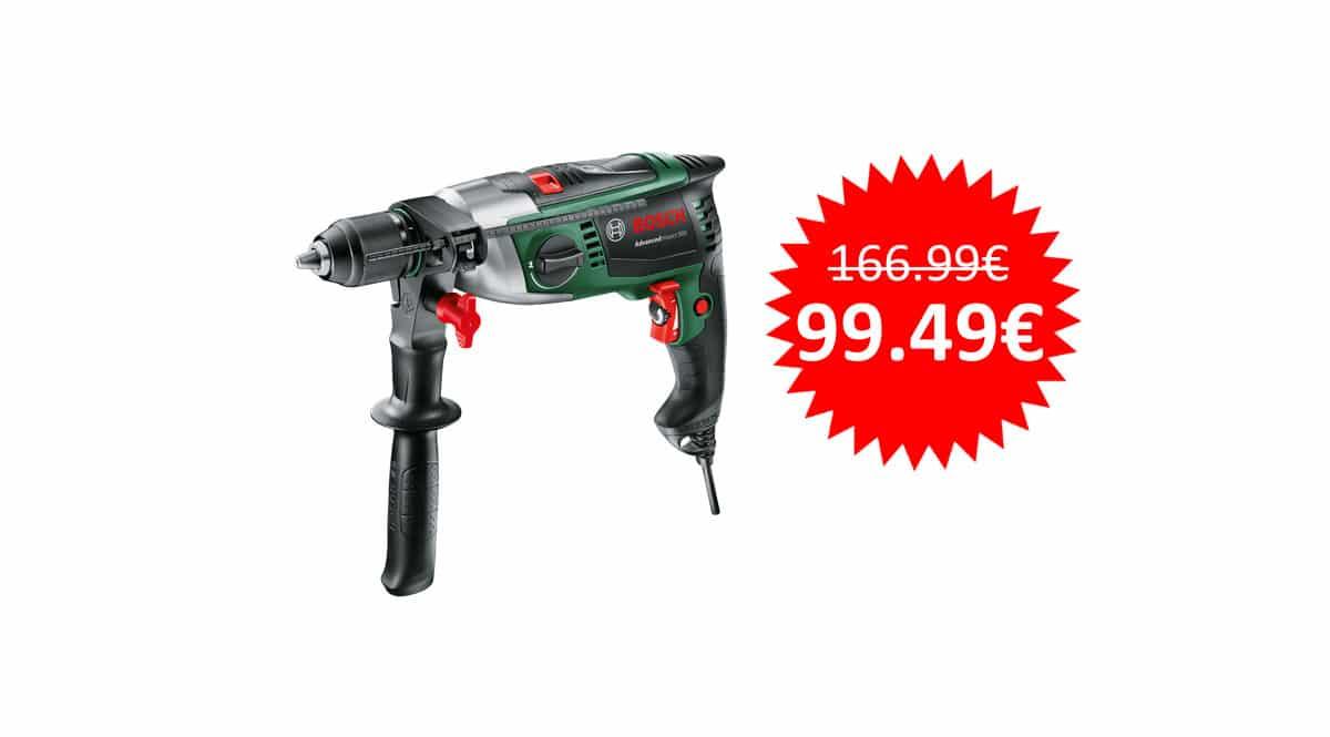 ¡Sólo hoy! Taladro de percusión Bosch Advanced Impact 900 sólo 99 euros. Te ahorras 67 euros.