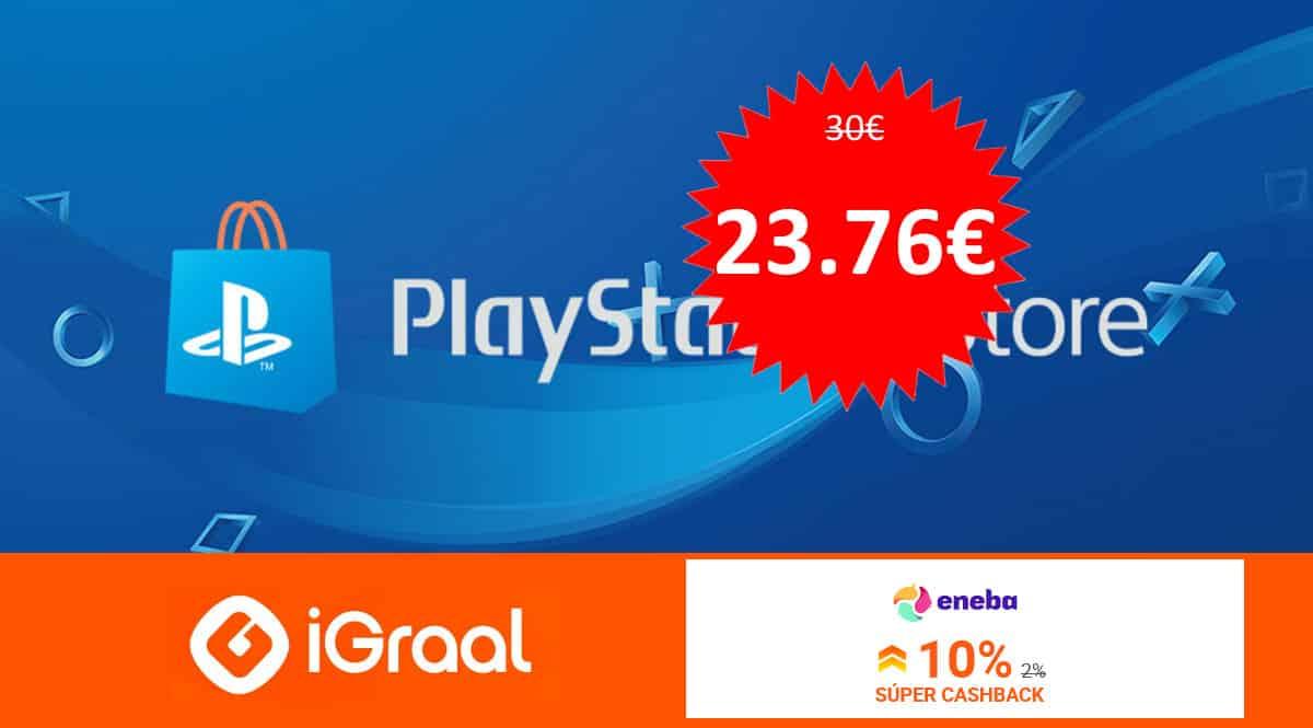 Tarjeta de 30€ de saldo para PS Store barata. Ofertas en videojuegos, videojuegos baratos, chollo